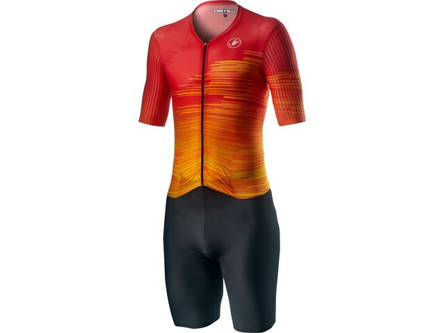 Castelli PR Speed Suit Heren, rood/zwart